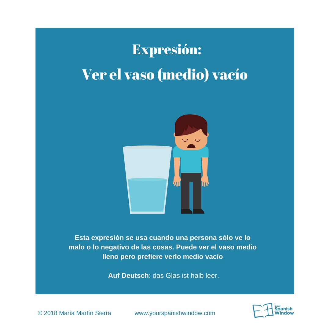 Typische spanische Ausdrücke ver el vaso medio vacío