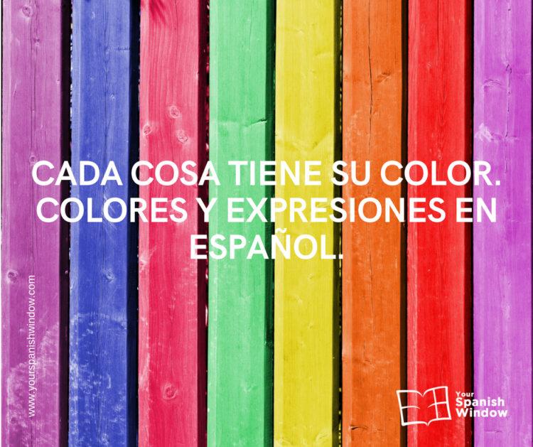 cosa color colores expresiones espanol