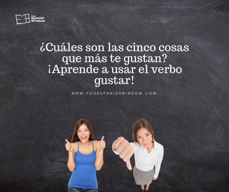 spanisch lernen kennst spanische verb gustar