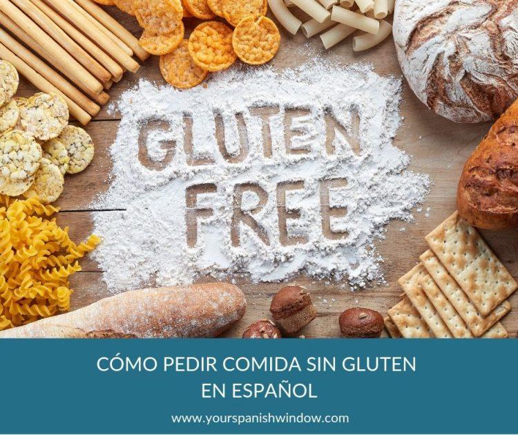 como pedir espanol comida sin gluten restaurante