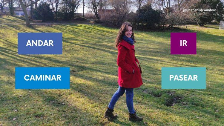 was unterschied zwischen spanischen verben andar caminar pasear